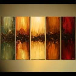 modern paint abstract painting multi panel large modern painting vertical 5488