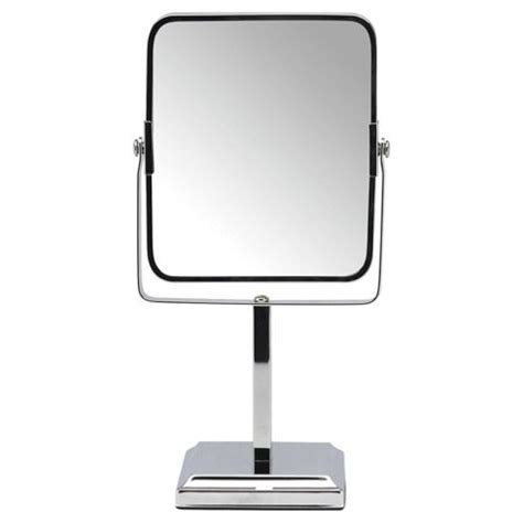 freestanding bathroom mirror buy tesco free standing square pedestal bathroom mirror