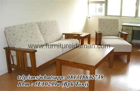 Kursi Sofa Elite set kursi sofa minimalis kayu jati ksi 07 furniture