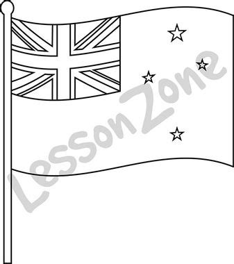 New Zealand Flag Colouring Pages New Zealand Flag Coloring Page