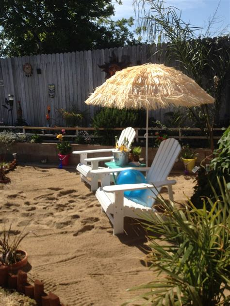 beach backyard ideas our backyard beach cover umbrella with fake grass