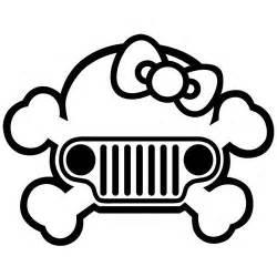 jeep hello bow skull american wrangler car