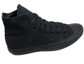 converse mens shoes all hi black mono canvas landau
