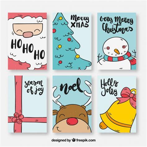 dibujos para tarjetas de navidad para ni241os pack de seis tarjetas de navidad con dibujos descargar vectores gratis