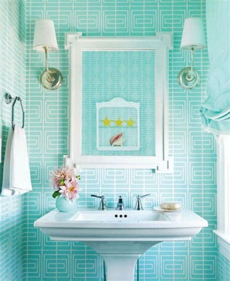 Bathroom Wallpaper Turquoise As The Color Of Your Bathroom Interior Design Ideas