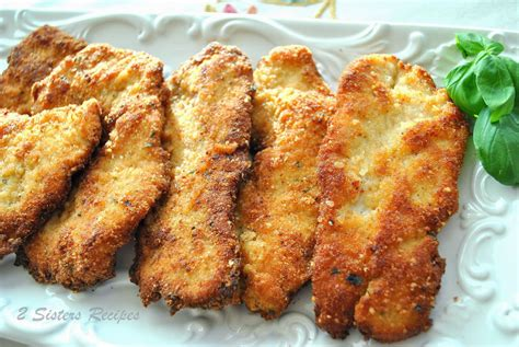 parmesan crusted turkey cutlets 2 sisters recipes by