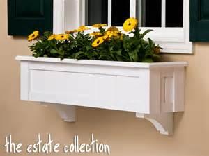 window flower boxes wooden