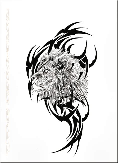 tribal tattoo lion images designs