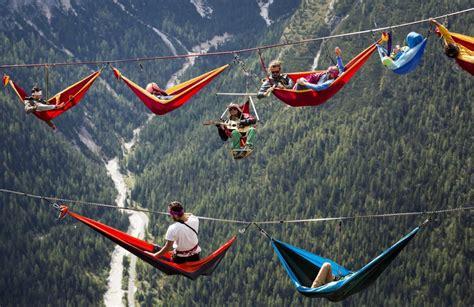 amaca repubblica il riposo degli equilibristi amache sospese sulle alpi