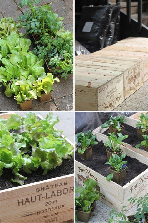 diy wine box vegetable garden the style files