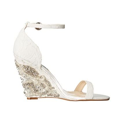 Bridal Wedge Sandals by What Is Special About Wedge Wedding Shoes Styleskier