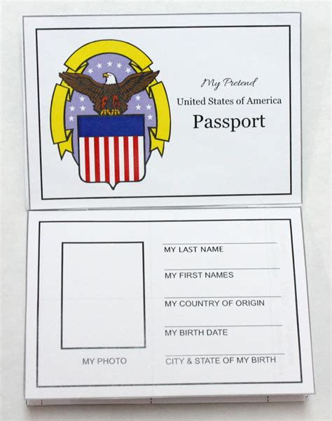 passport template for students we re going on a trip free travel printables suitcase