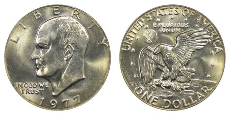 composition of dollar coin 1977 eisenhower dollars clad composition resumed value