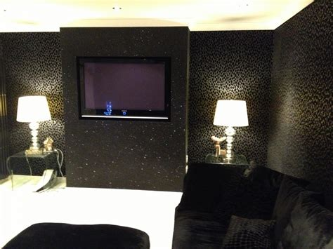 glitter wallpaper room cheetah print bedrooms black glitter wallpaper bedroom