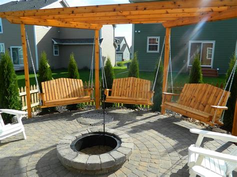 firepit swing swing pit plans pit design ideas