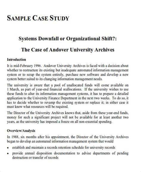 layout of a case study report 41 report format sles
