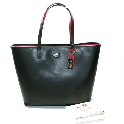 Tote Bag Big coach black leather large tote bag 32701 coach 32701