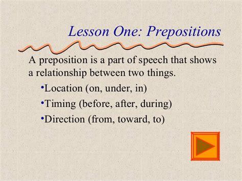 Definition For Preposition Definition