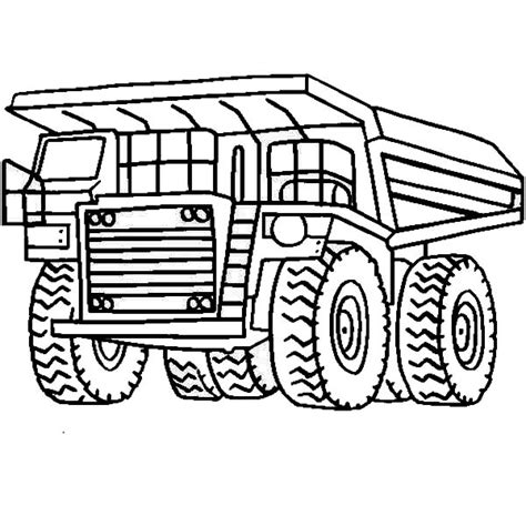 printable coloring pages dump truck dump truck coloring pages