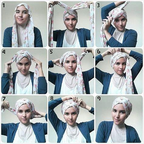 tutorial hijab bentuk turban les 25 meilleures id 233 es concernant turbans sur pinterest