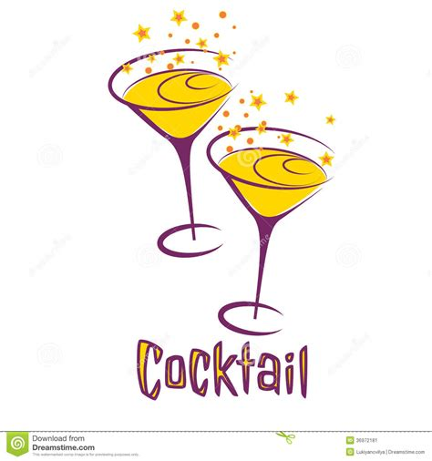 retro cocktail clipart retro cocktail party card stock image image 36972181