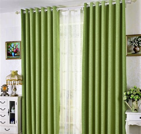 green bedroom curtains simple modern chic natural linen insulated curtains in green curtains