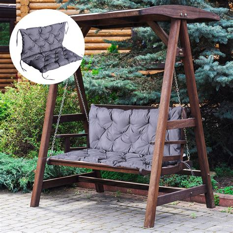 Outsunny Bench Swing Chair Replacement Seat Pad Cushions