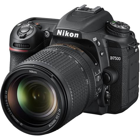 nikon photo nikon d7500 dslr with 18 140mm lens 1582 b h photo