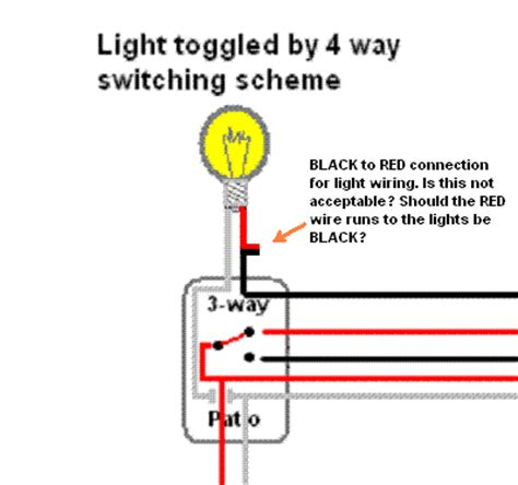 electrical wiring colours for lights 4 way wiring sanity check and wire color question