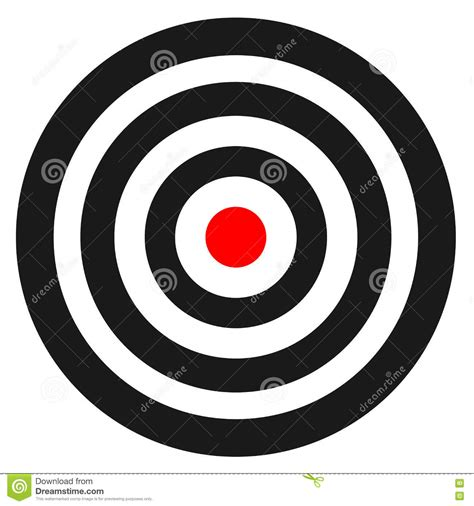 Blank Template For Sport Target Vector Shooting Competition Clean Target With Numbers For Set Shooting Target Template