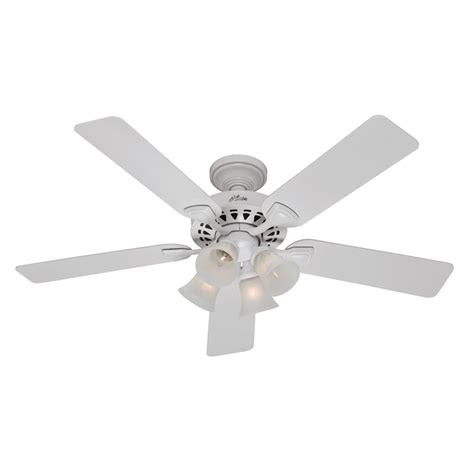 lowes white ceiling fan enlarged image