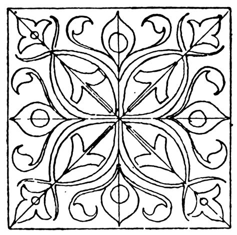 from pattern to nature in italian renaissance drawing renaissance square panel clipart etc