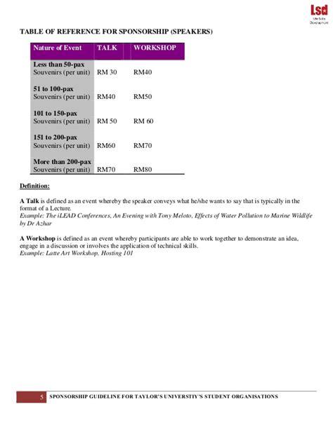 Sponsorship Letter Requirements Sponsorship Guidelines Lsd