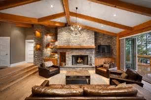 lovely Sunken Living Room Designs #4: Sparkling-combination-of-artificial-and-natural-lighting-illuminates-the-sunken-living-area.jpg