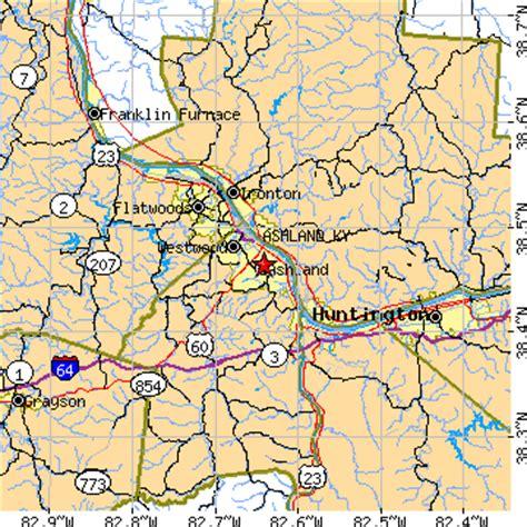 kentucky map ashland ashland kentucky ky population data races housing