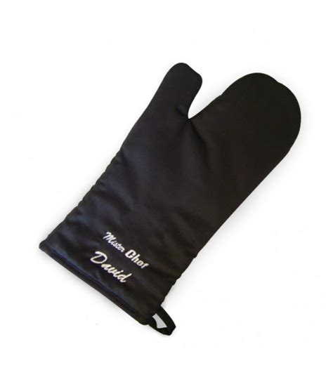 personalised oven glove mister chef just for gifts