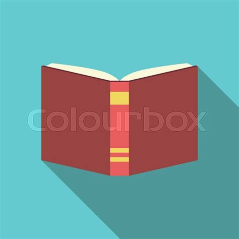 background knowledge design red open book on blue background back view flat design
