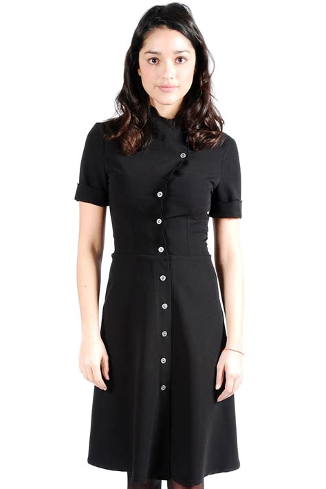 Dress For Button mimi s structured black button dress from marais