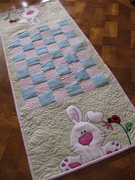 Quilted Easter Table Runner Pattern by Moosestash Quilting Easter Table Runner