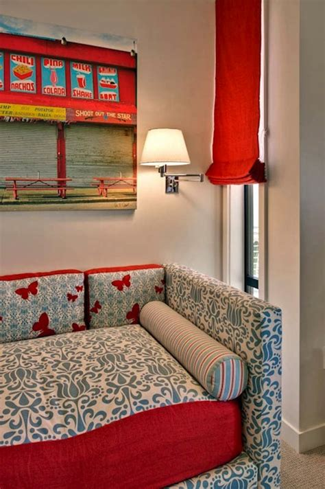 red and white girls bedroom red and blue girl s bedroom eclectic girl s room