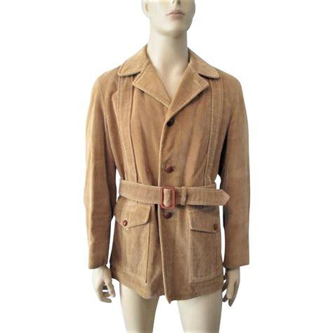 Corduroy Button Coat mens corduroy jacket coat vintage 1970s brown leather