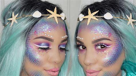 mermaid makeup beauty tutorial instyle com