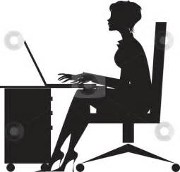 working at desk desk silhouette clipart cliparthut free clipart