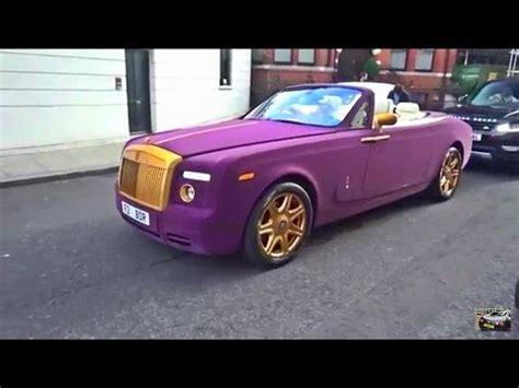 roll royce purple purple velvet gold rolls royce in london youtube