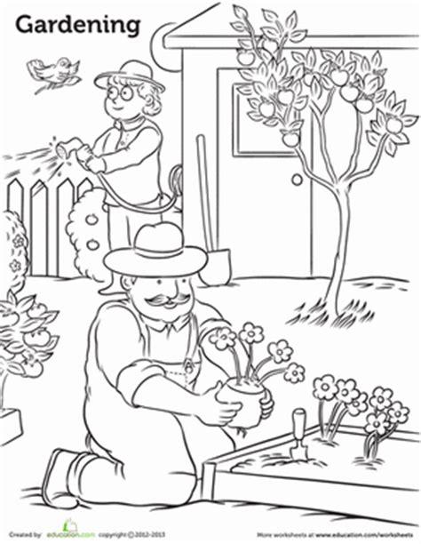 garden coloring pages for preschool gardening worksheet education com