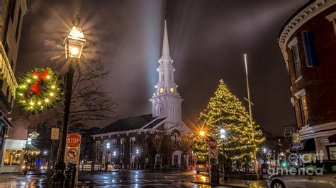 christmas time in portsmouth new hshire photograph by
