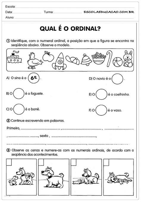 Déco ées 20 by Atividades N 250 Meros Ordinais Atividades Educativas