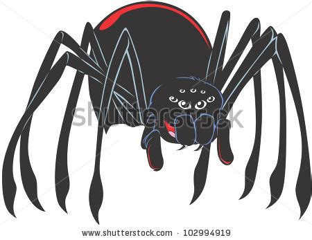happy black widow spider cartoon black widow stock images royalty free images