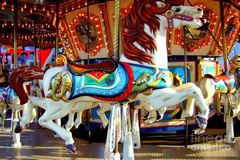 Horse Duvet Cover Carousel Horse With Fish Photograph By Mary Deal