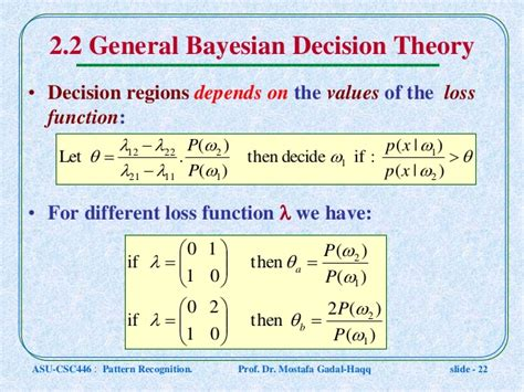 pattern recognition bayesian decision theory csc446 pattern recognition ln4